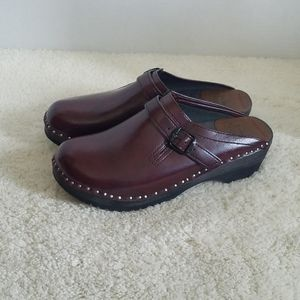 Troentorp Leather Buckled Clogs